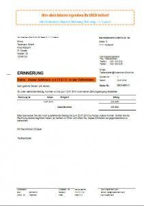 Zahlungserinnerung Muster Vorlage Mahnwesen Mahnsoftware