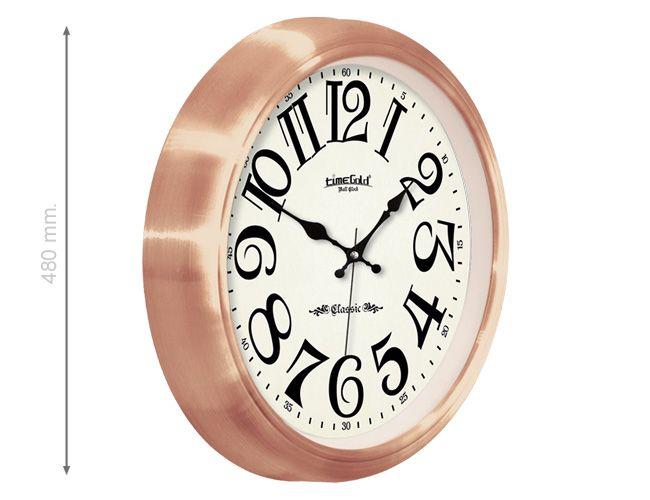 Klasik Altın Metal Duvar Saati  Ürün Bilgisi;  Mineral Cam Aliminyum Çerçeve Sessiz Akar Saniye Çap 480 mm.