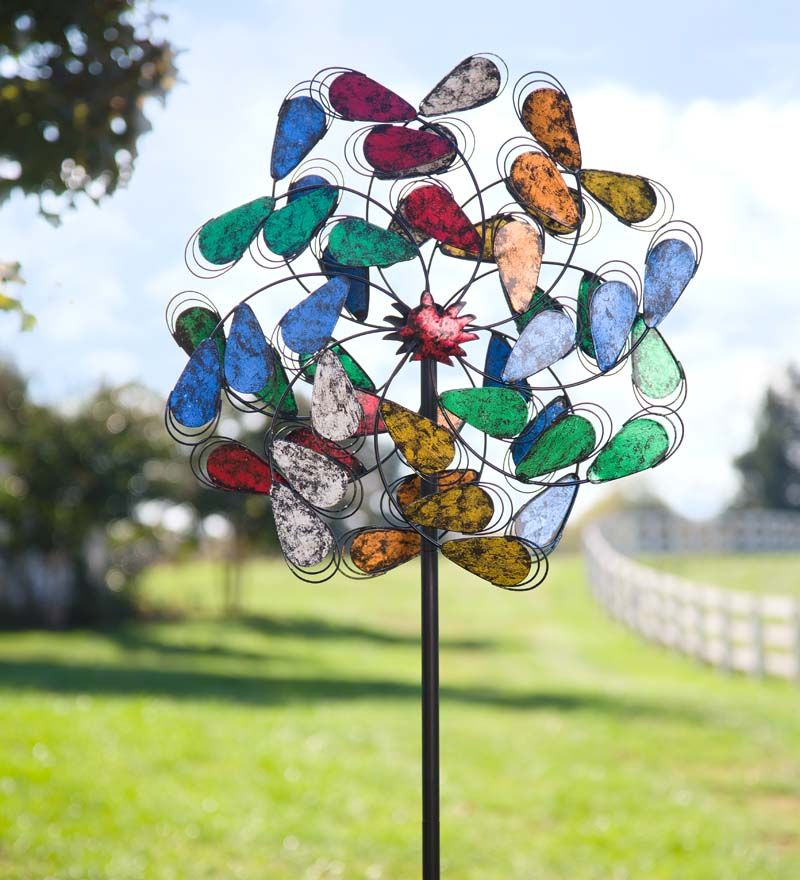 Oversized Colorful Leaves Metal #Wind #Spinner