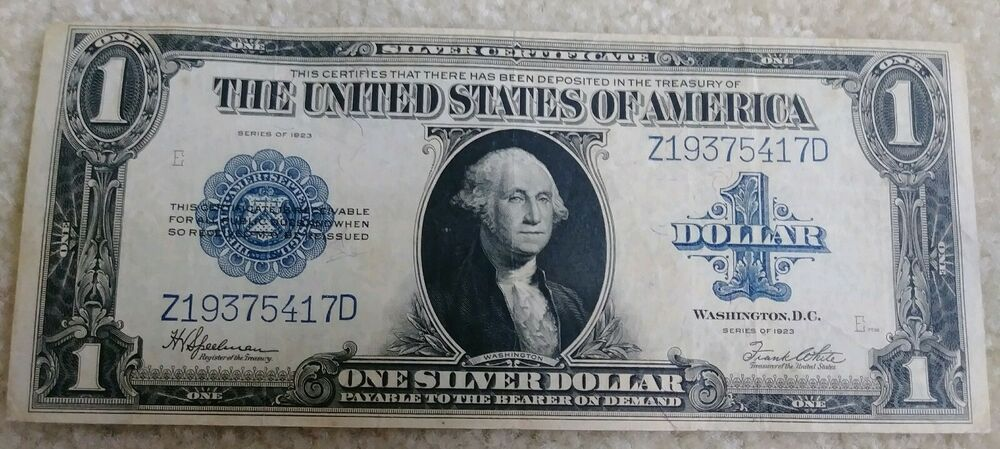 $1 1923 Silver Certificate PCGS 58 PPQ Fr 237 about uncirculated