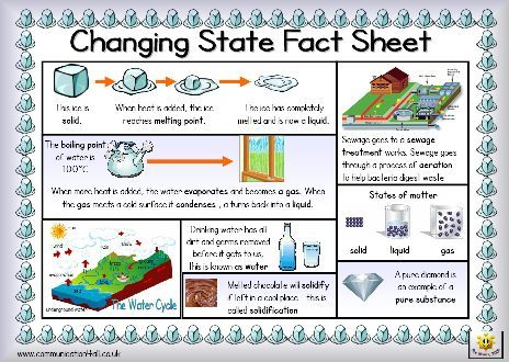 Hereu0027s a simple fact sheet on changing states of matter Includes - sample fact sheets