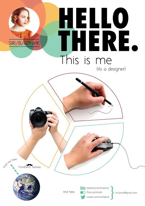 Self Promotion by Siri Lønvik, via Behance Design Pinterest - advertising graphic designer resume