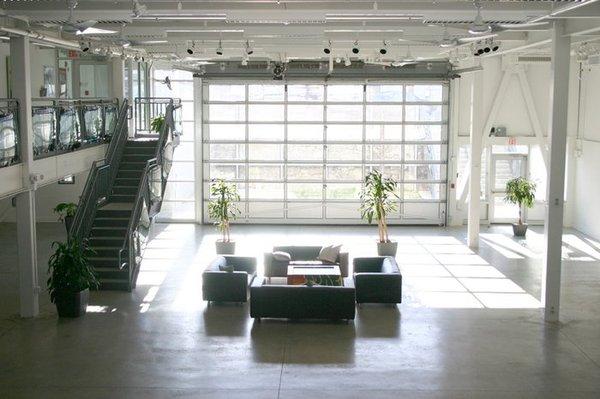 Green Wedding Venue Boston Artists For Humanity Epicenter Garage Doors Loft Living Glass Garage Door