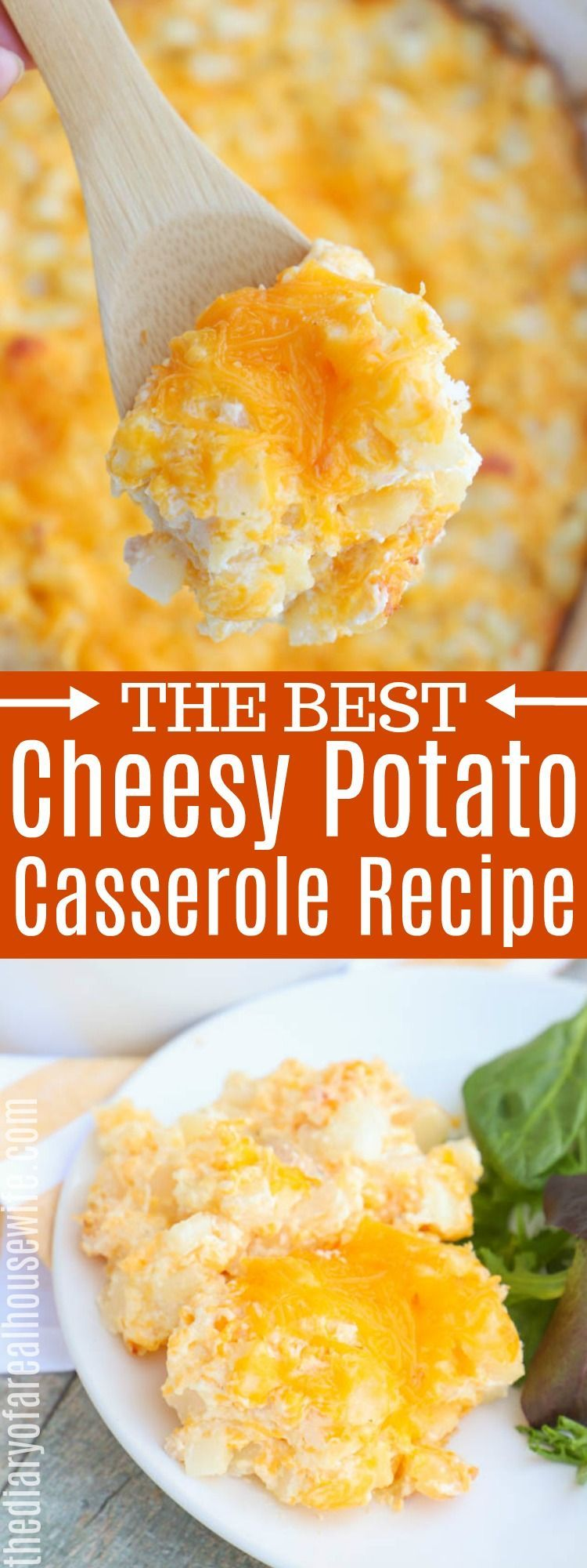 Cheesy Potato Casserole - The Diary of a Real Housewife