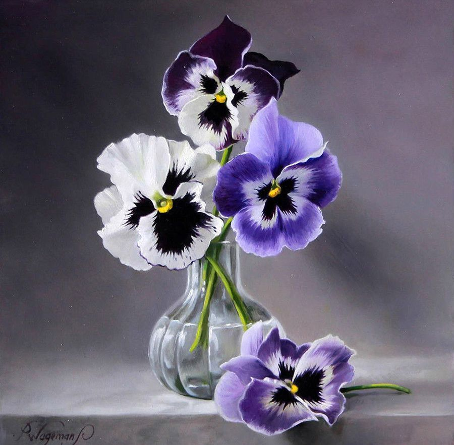 Pin By Doris Coleman On Pansy Varieties In 2020 Floral Painting Flower Painting Flower Art