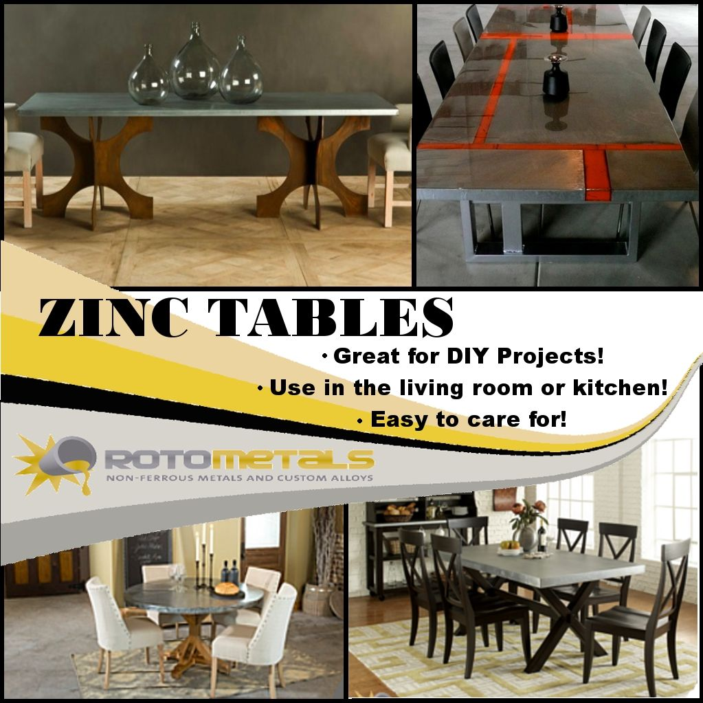 Check Out Our Videos For Diy Zinc Tables Amp Counter Tops At Rotometals Com Zinc Table Kitchen Paint Table