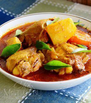 Kari Ayam Tanpa Santan Kari Ayam Pork Loin Recipes Spicy Recipes