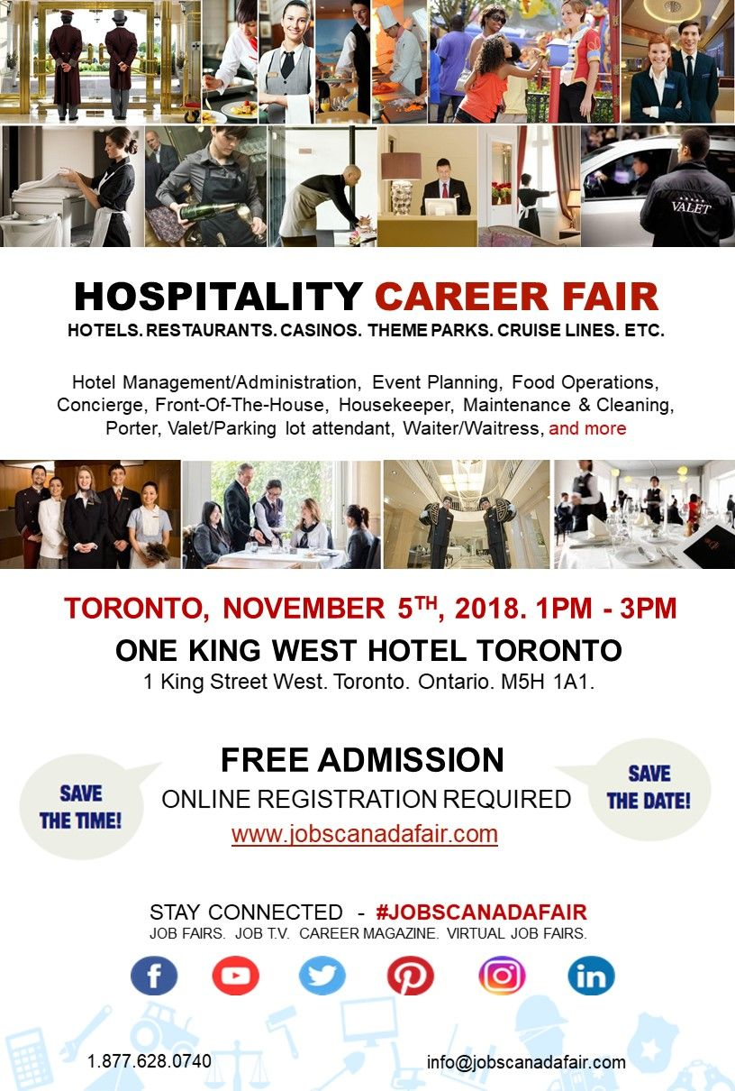 Looking For A Job Immediate Hiring Direct Interview Jobs Canada Fair Toronto Hospitality Job Fair N Event Management Event Planning Career Event Planning