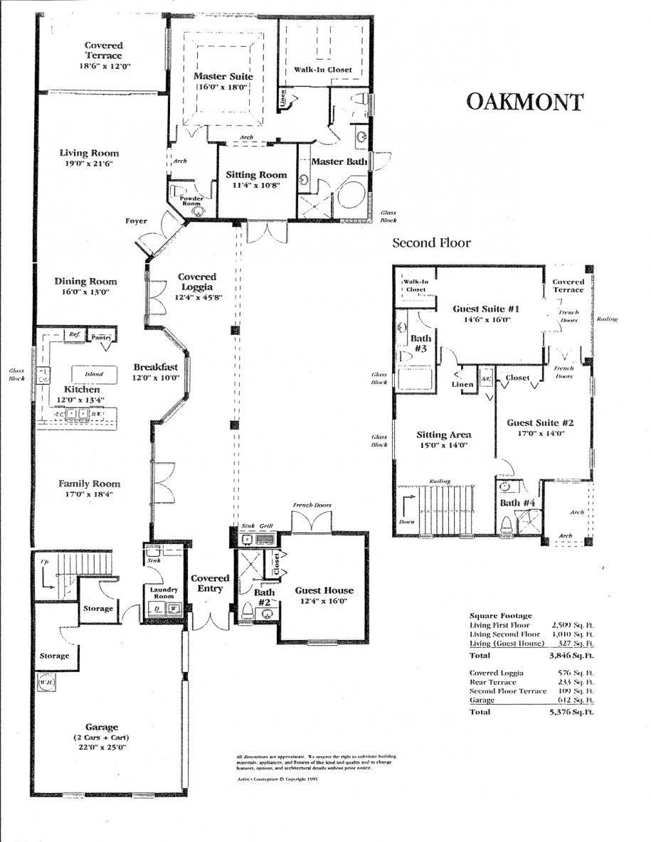 Luxury Oakmont House Two Levels Floor Floor Plans For Houses Floor Plan Design House Floor Plans Modern Floor Plans