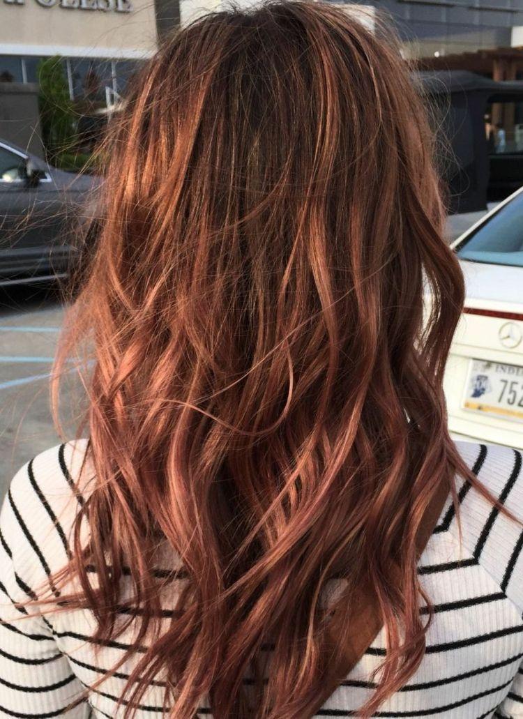 Haarfarbe Rosebraun