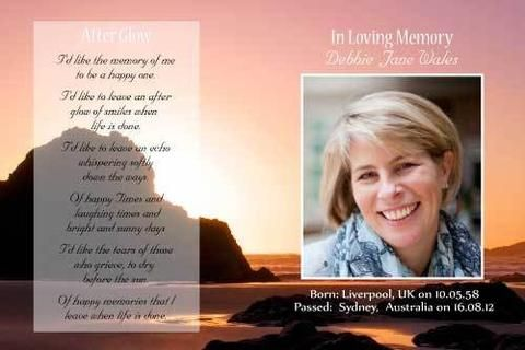 funeral remembrance cards