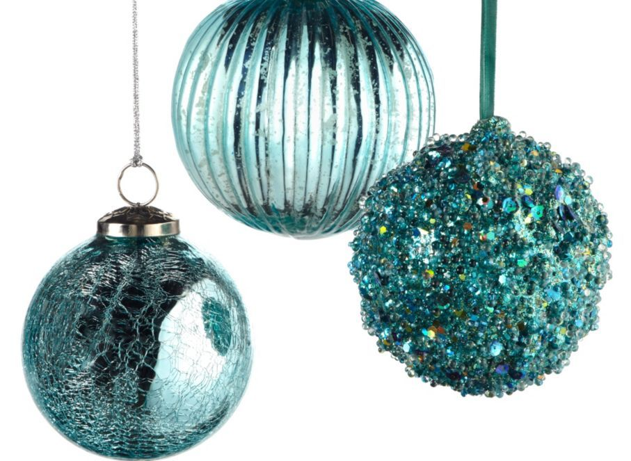 Z Gallerie Mercury Glass Ornaments Turquoise Teal Christmas Decorations Turquoise Christmas Teal Christmas