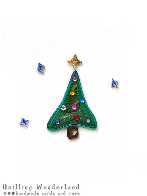 Christmas tree paper quilling christmas by for Deco quilling