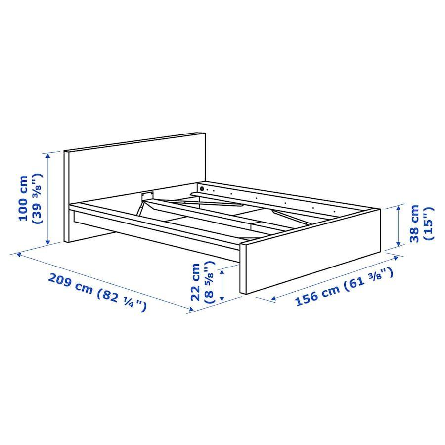 Malm Bettgestell Hoch Weiss Ikea Deutschland In 2020 Malm Bett Bettgestell Verstellbare Betten