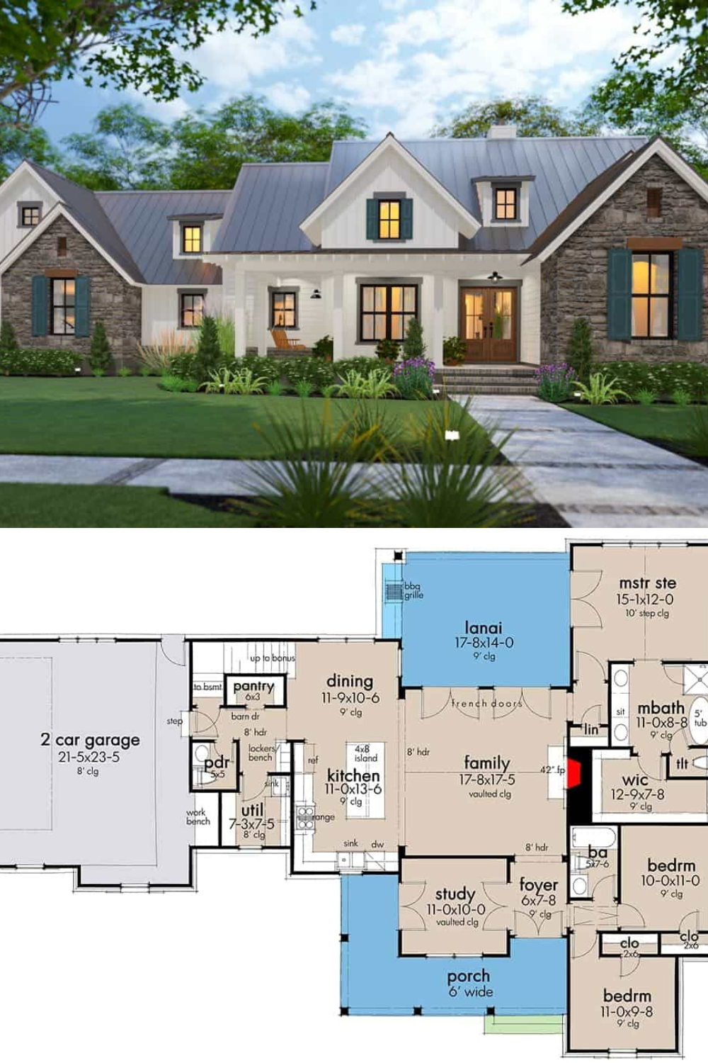 Two Story 4 Bedroom New American Farmhouse Floor Plan In 2020 Affordable House Plans House Plans Farmhouse Farmhouse Floor Plans