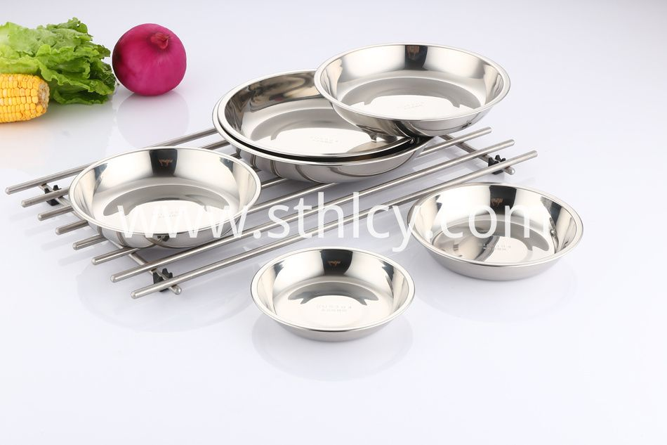 Polished 304 Stainless Steel Round Plates Premium Food Grade 304 Stainless Steel Plate Metal Which Means Bpa Free Stainless Steel Plate Plates For Sale Plates