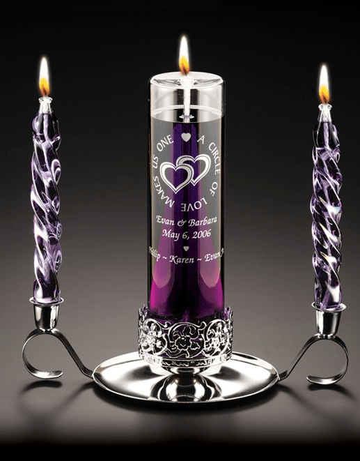 Circle of Love Glass Oil Unity Candle