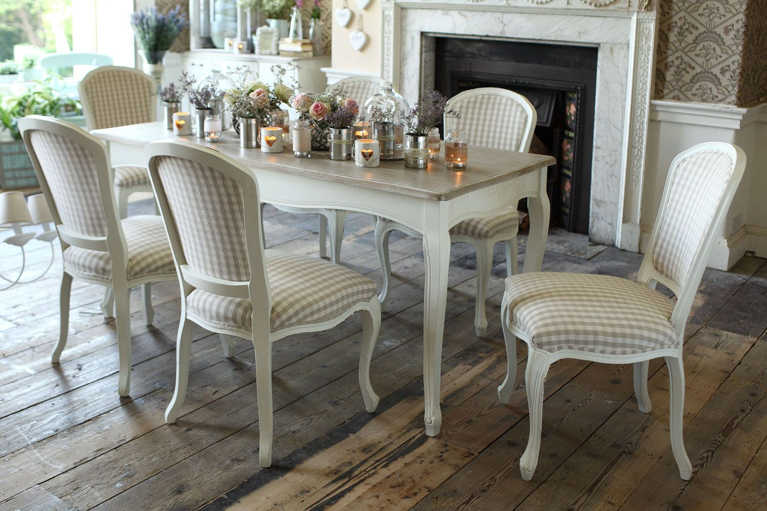 parisian 7 piece dining set from harvey norman ireland love this french chateau shabby chic look. Black Bedroom Furniture Sets. Home Design Ideas