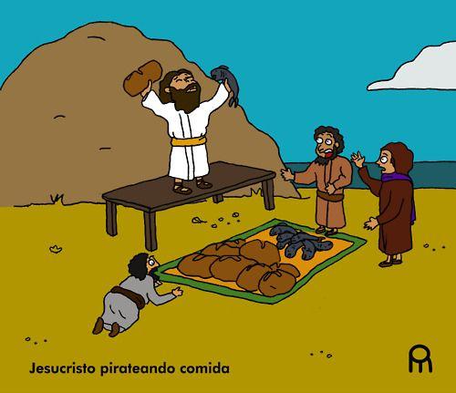 Jesucristo pirateando comida
