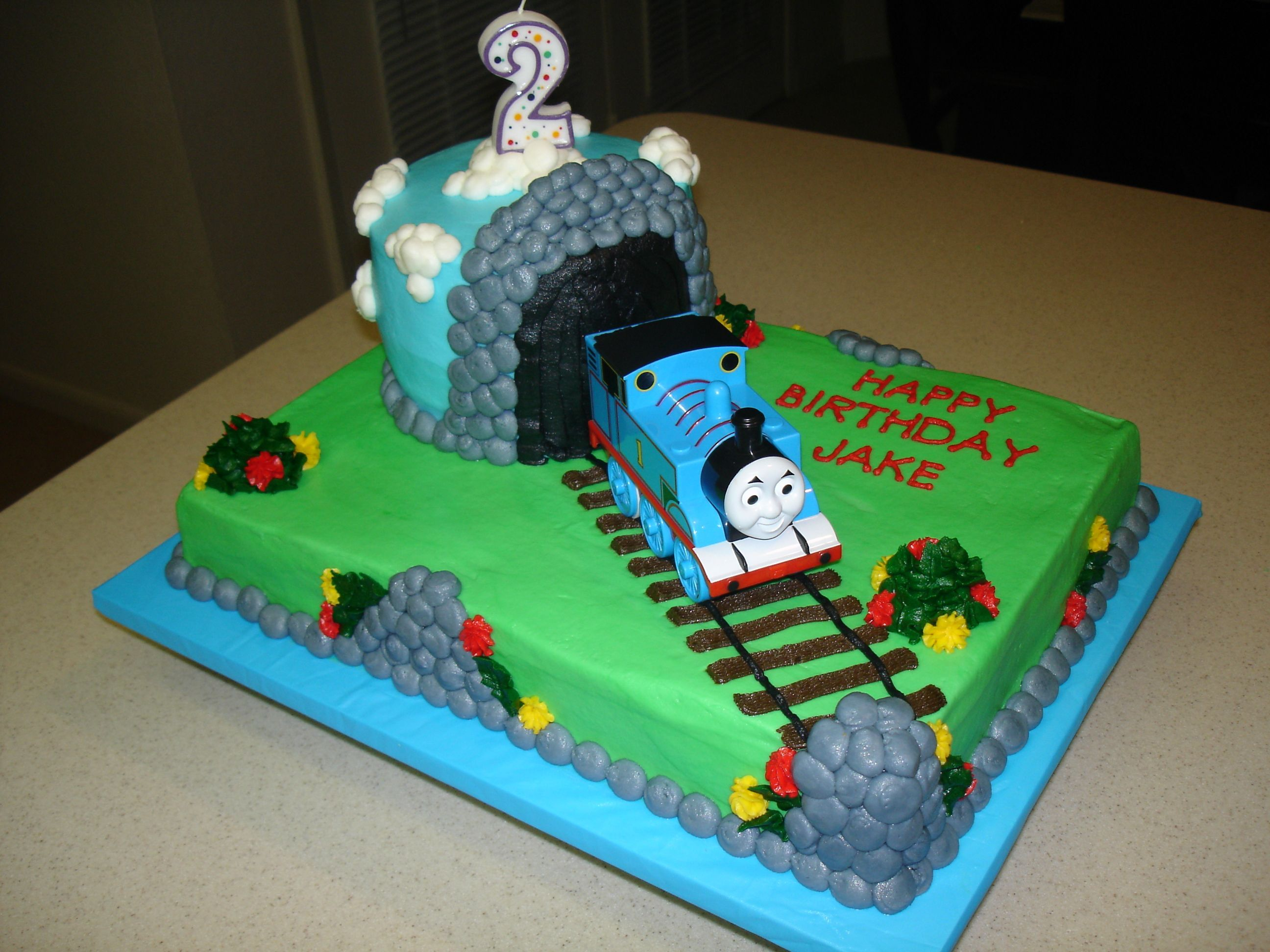 Remarkable Thomas The Train Birthday Cake Train Birthday Cake Thomas Personalised Birthday Cards Sponlily Jamesorg