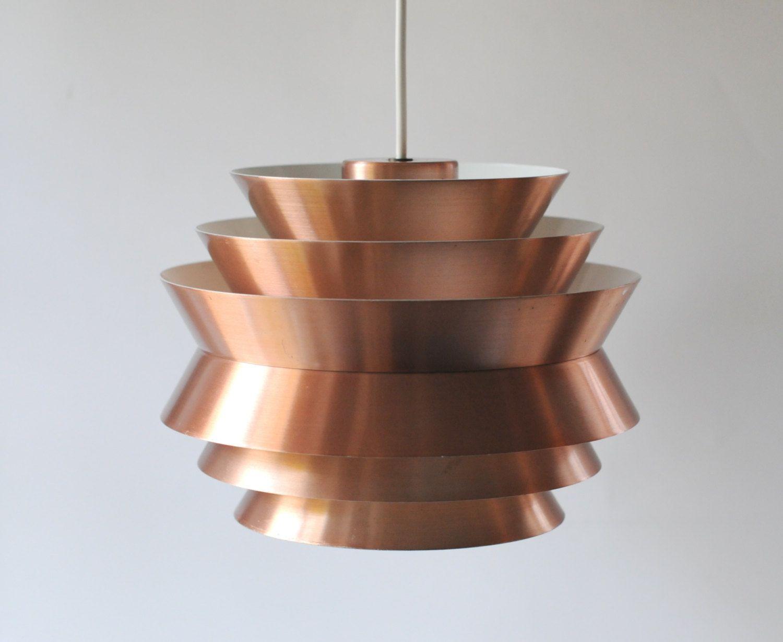Danish design ceiling lights : Carl thore ceiling light copper pendant trava swedish