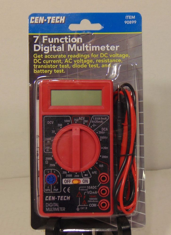 Cen Tech Digital Multimeter Directions