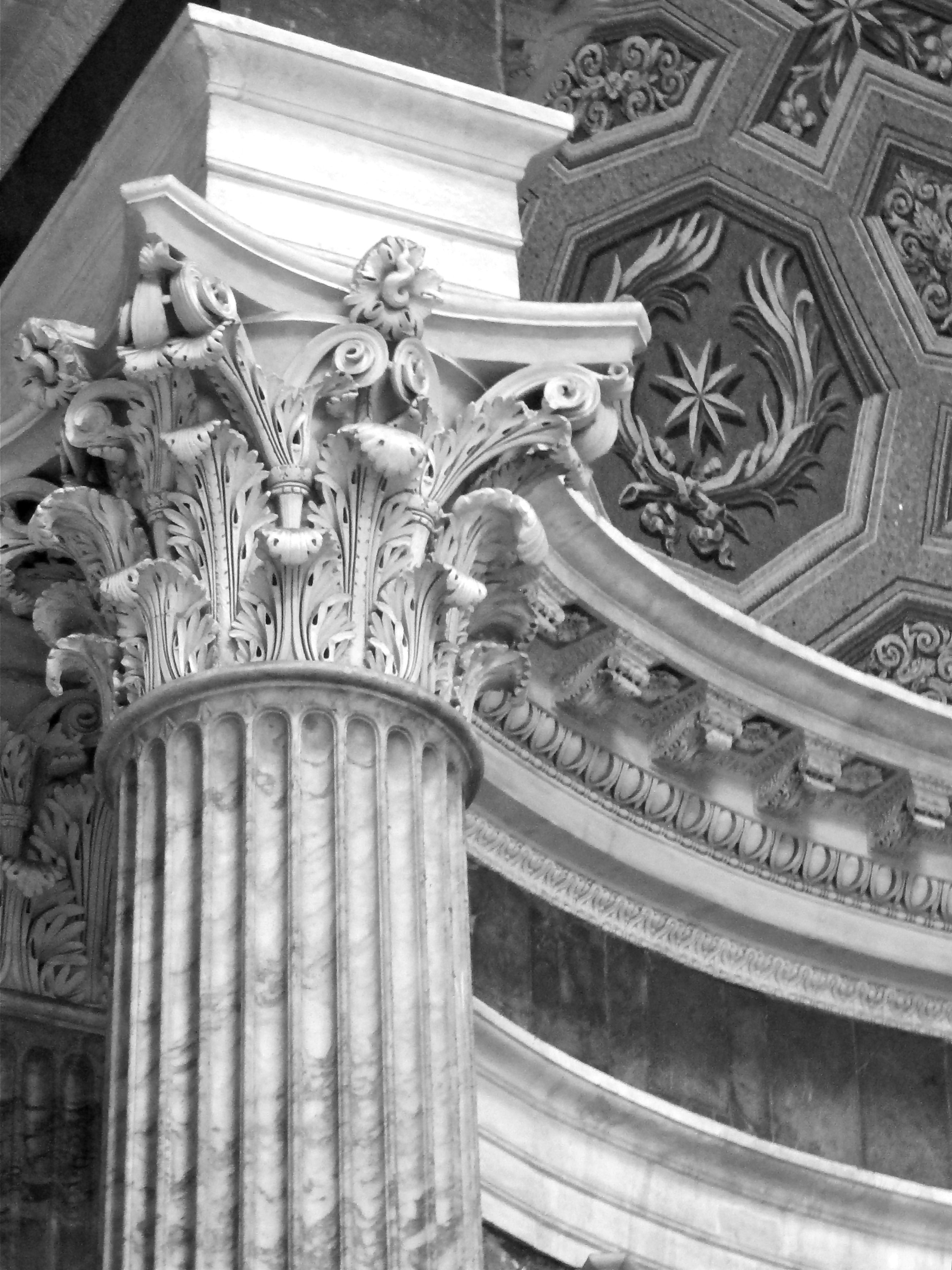Column In Pantheon-rome Art And