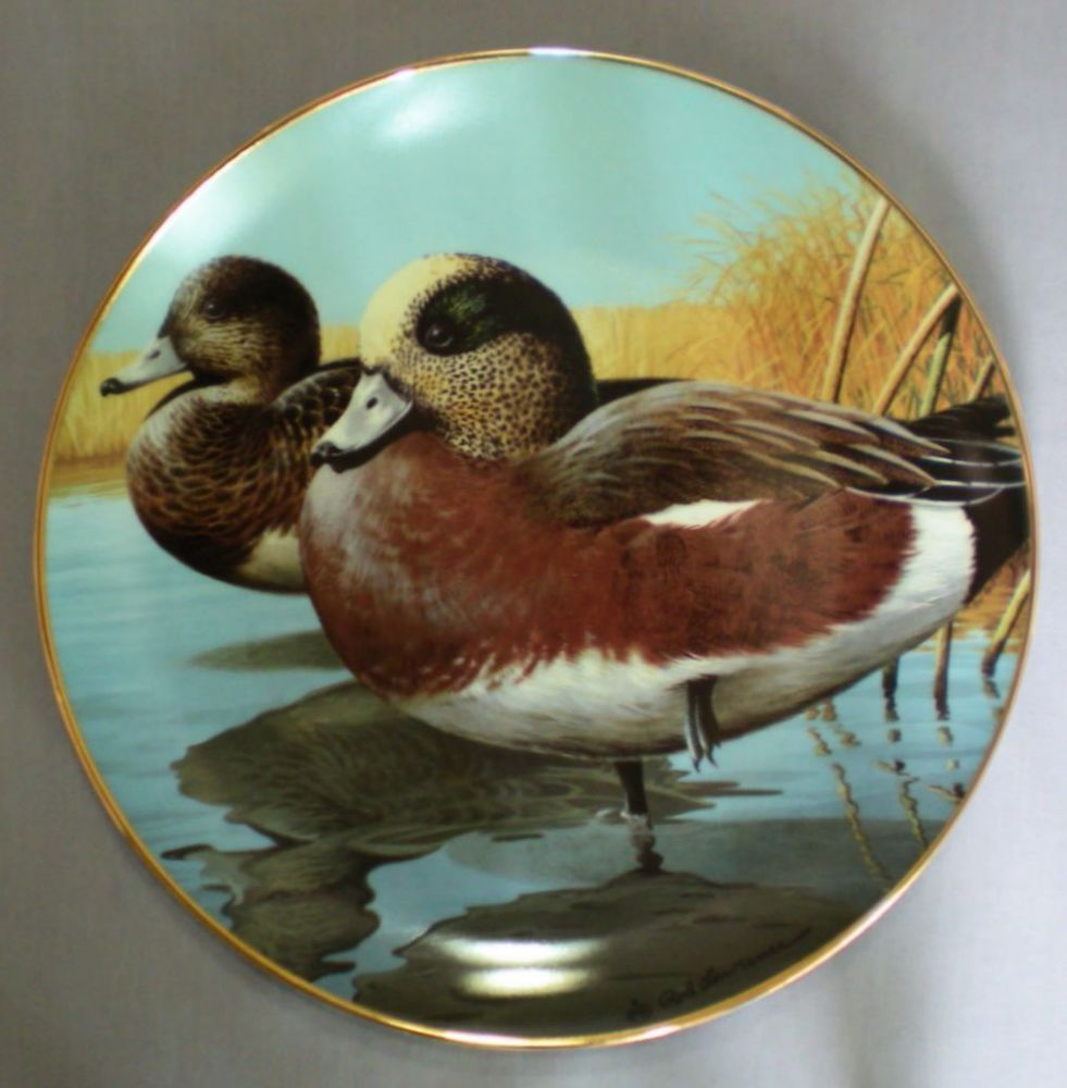 LE Lawrence Hamilton Collection American Waterbirds Plate Widgeon Duck W/ Box