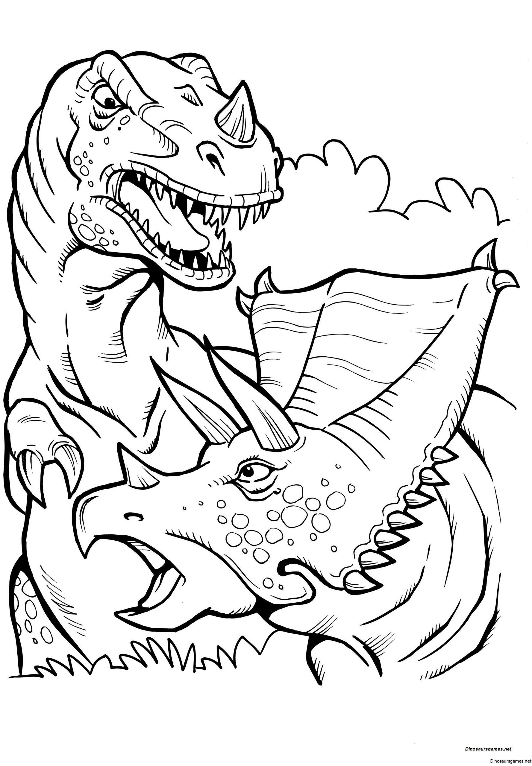 T Rex Coloring Sheets Battle T Rex Coloring Page Dinosaur Coloring Pages In 2020 Dinosaur Coloring Pages Dinosaur Coloring Sheets Dragon Coloring Page