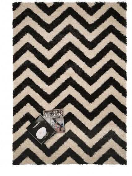 Hochflor teppich graphic zick zack schwarz wei living room pinterest hochflor teppich - Teppich schwarz weiay zick zack ...