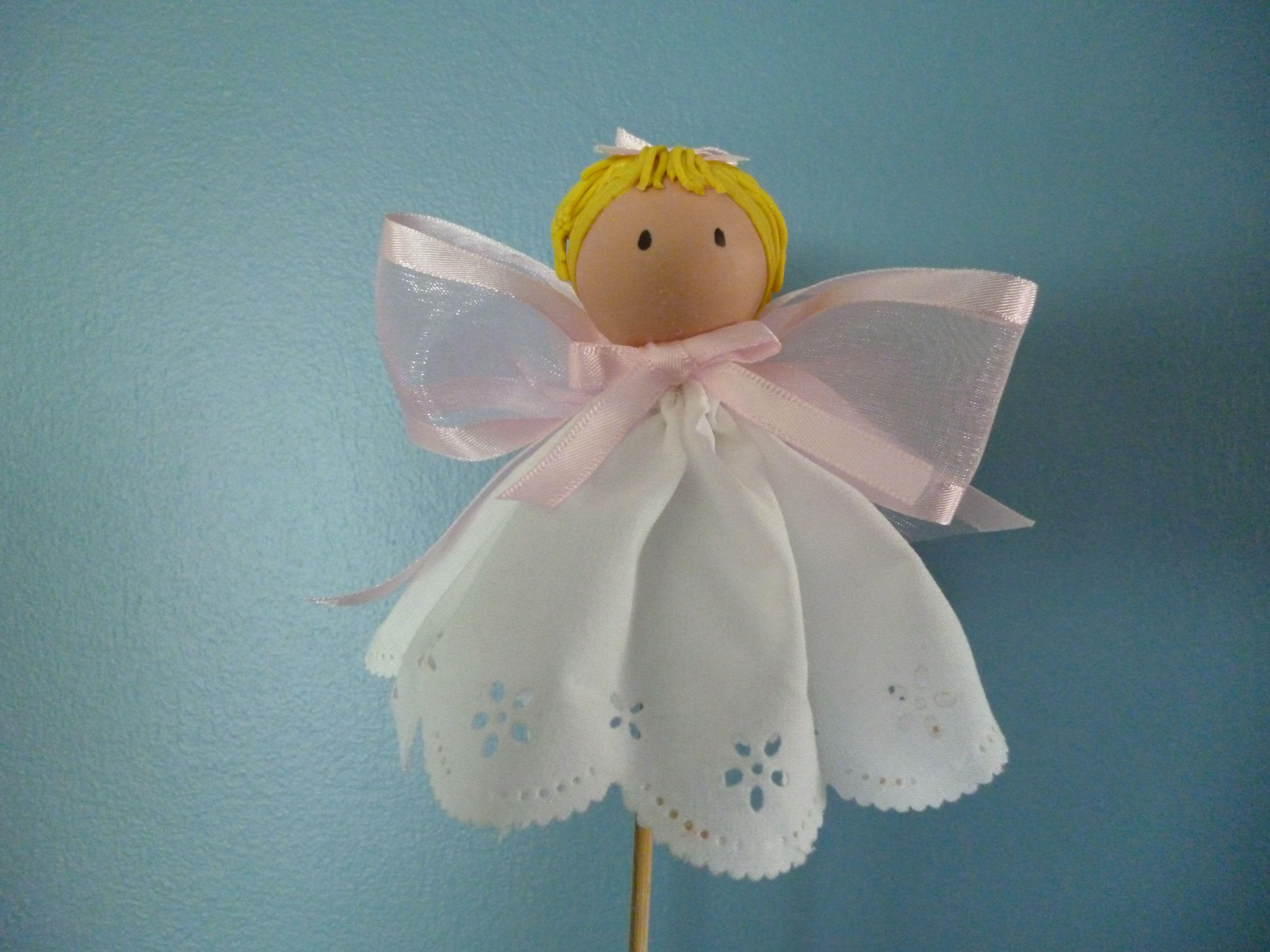 Angel para bautizo de isabella angeles pinte - Como hacer decoraciones de bautizo ...
