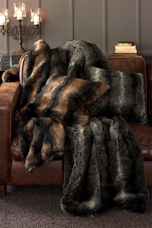 Buy Bedding Online at EziBuy | Bed linen includes sheet sets, duvet covers, blankets, quilts - Zulu Fur Throw - EziBuy Australia