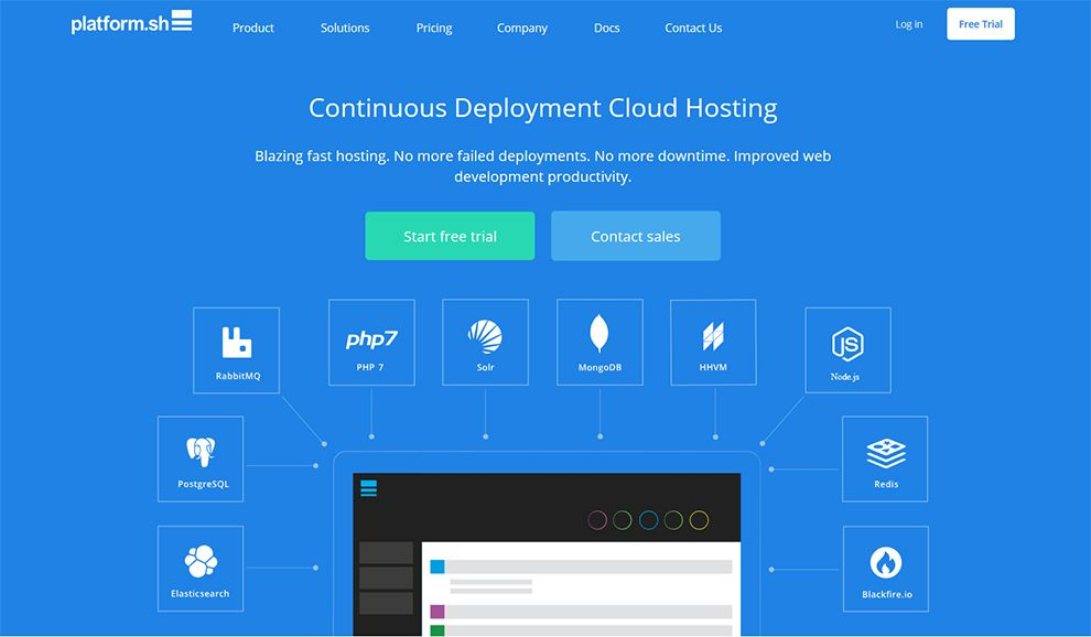 Platformsh API for cloud hosted apps https//www