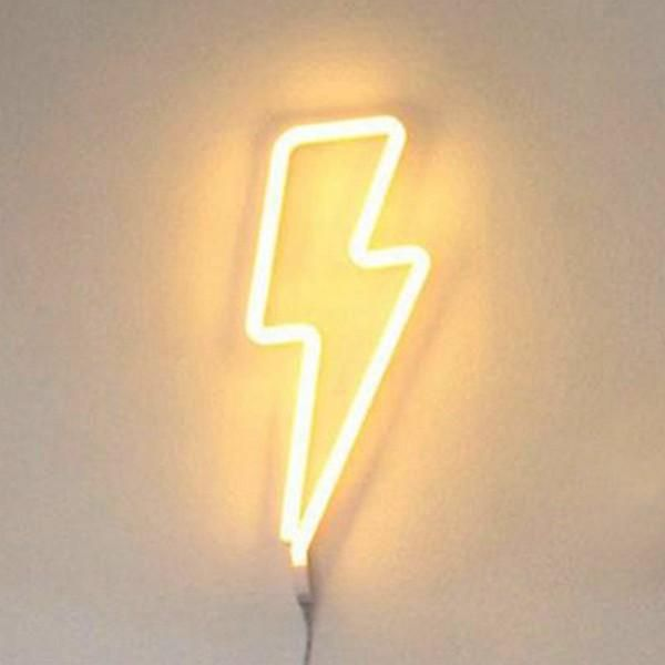 Word and Sign Neon Light - Lightning / Yellow