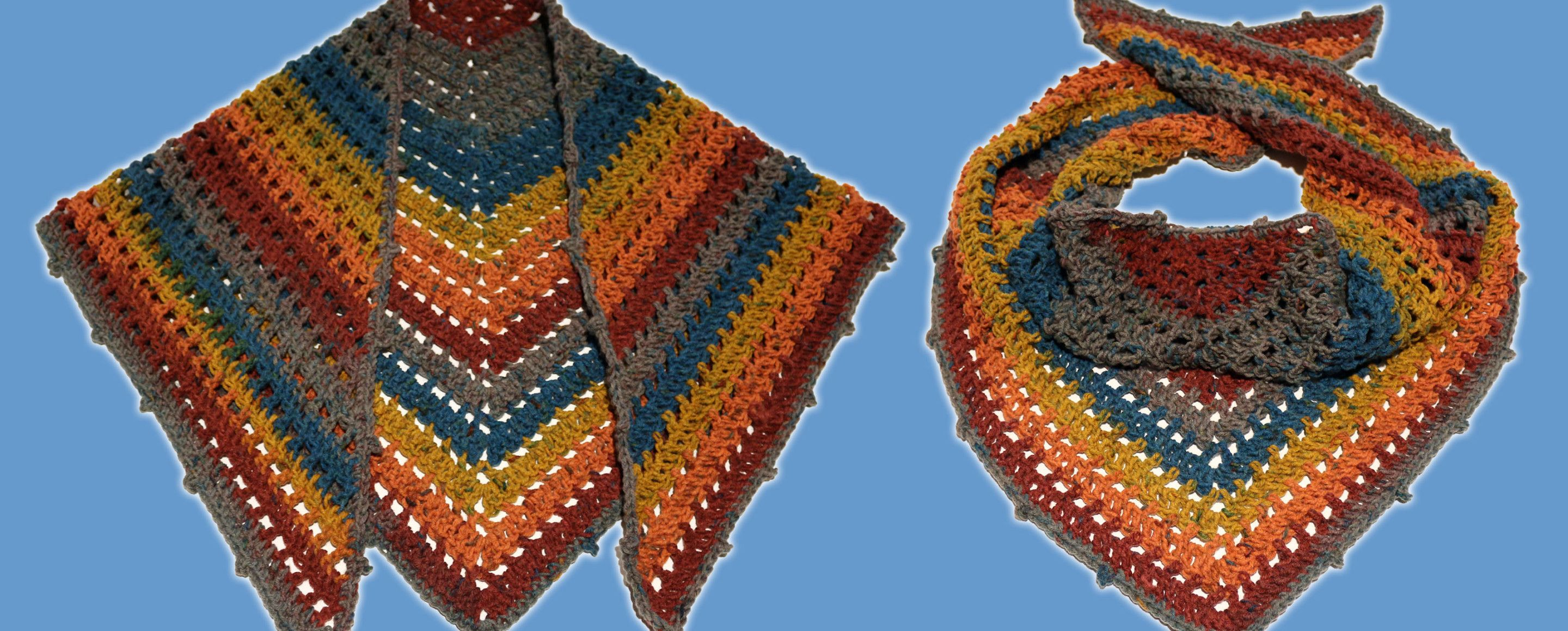 You need only a single Caron Big Cake to create this versatile shawl ...