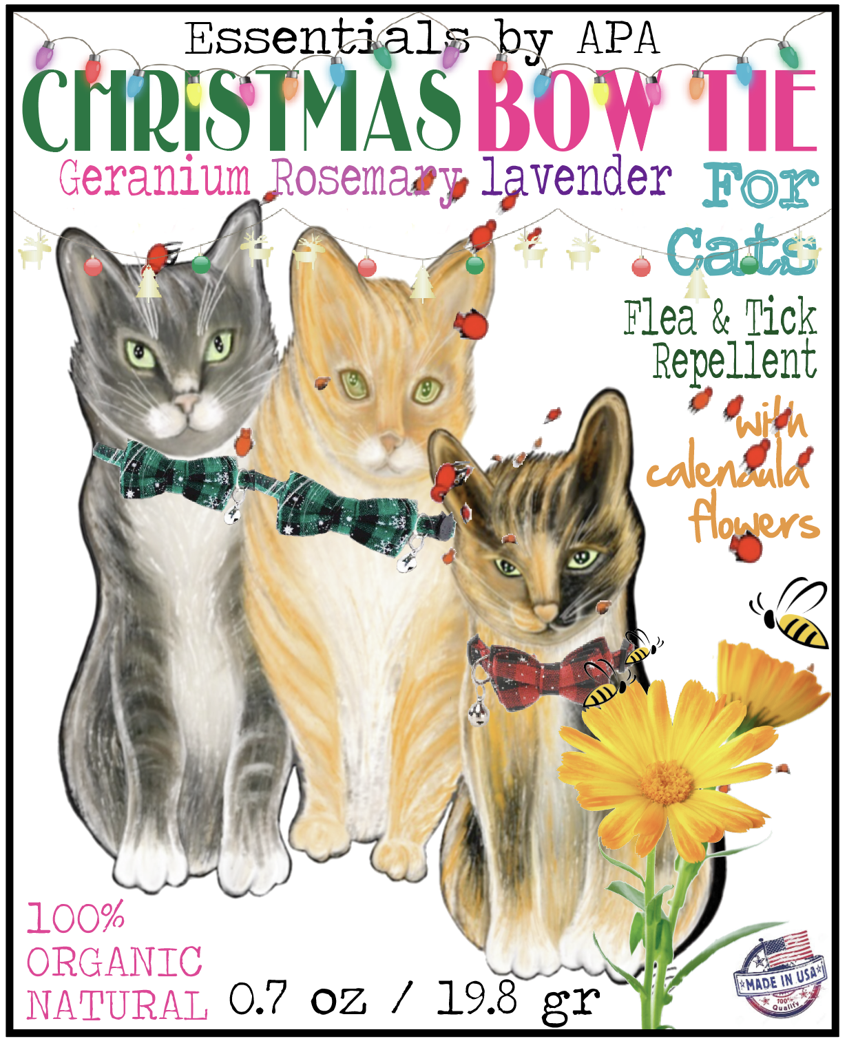 Christmas Bow Tie Flea Tick Collar For Cats Dogs Cat Bowtie Collar Cat Collars Cat Fleas