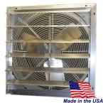 Hessaire 20 In 3300 Cfm Power Shutter Mounted Variable Speed Exhaust Fan Grey Home Cooler Whole House Fan Exhausted