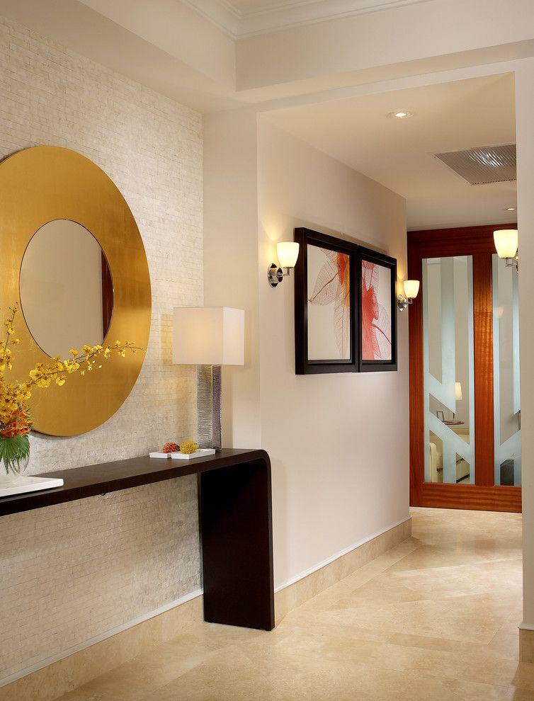 Decorative Wall Mirrors Contemporary Hallway Entrance Hall