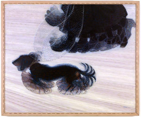 Dinamismo De Un Perro Con Correa Futurismo Pintura Metafisica Pintores Italianos