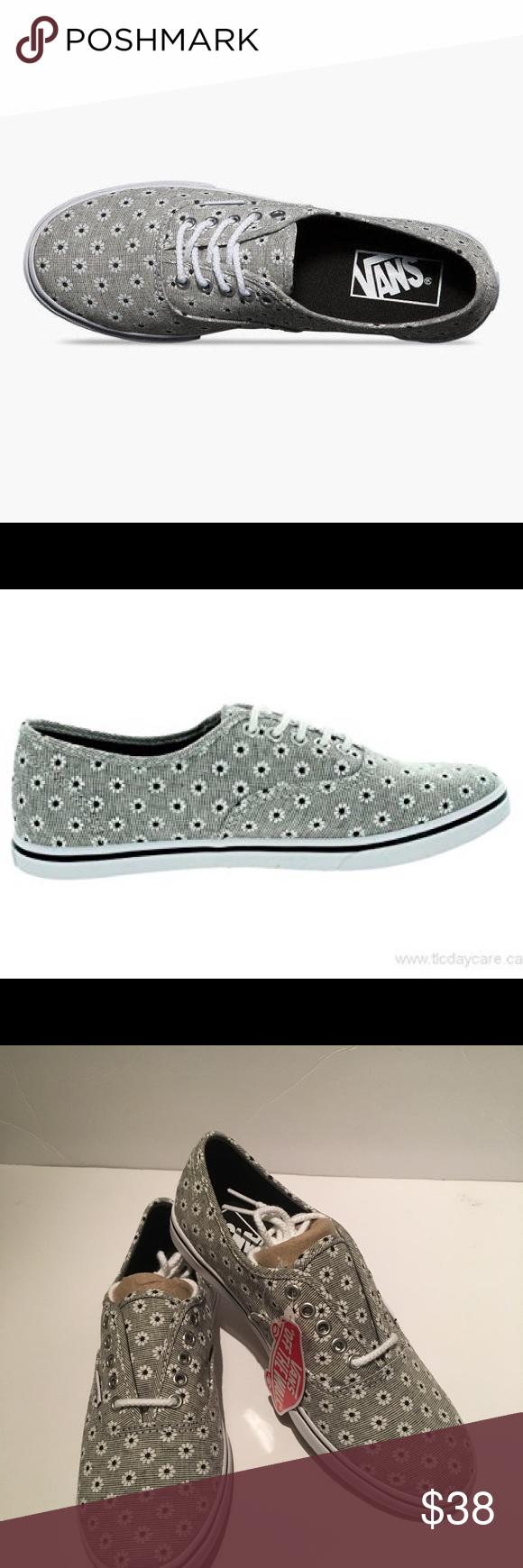 87440805d3 Vans Authentic Lo Pro (Chambray Floral) Black True White Size 5.0 Men