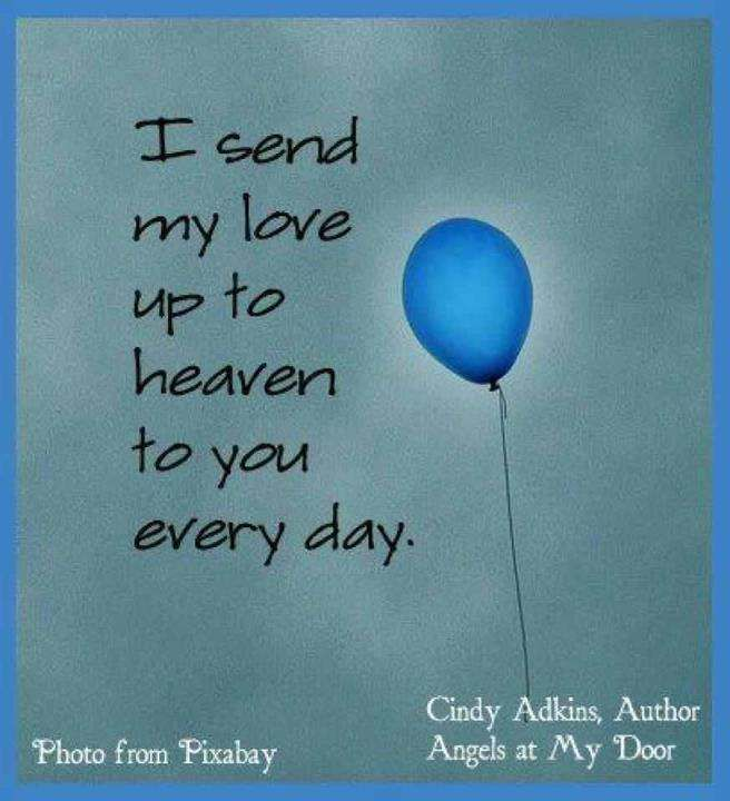 Everyday I send my love to you baby boy. I hope you know ...