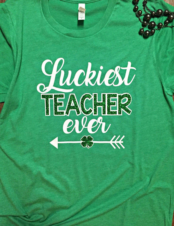 37f58ea5bf25fe Teacher St. Patrick s day shirt