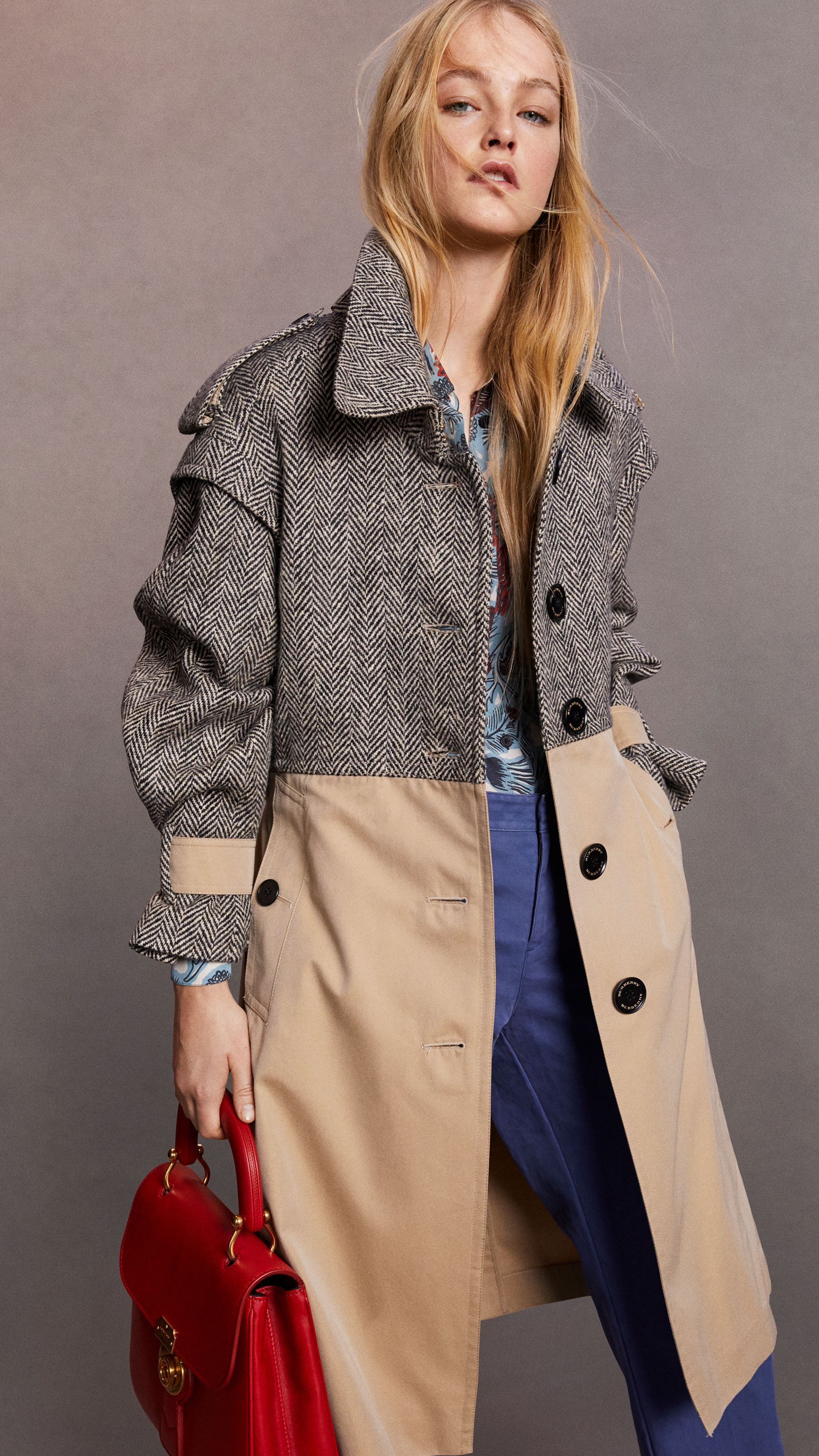 3d42a96d5c8b Donegal Tweed and Cotton Gabardine Trench Coat in Natural White black -  Women   Burberry