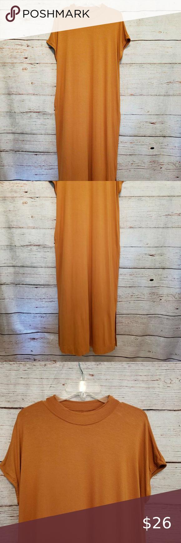 Nwot Wishlist T Shirt Maxi Dress Golden Mustard Maxi Shirt Dress Maxi Dress Dresses [ 1740 x 580 Pixel ]