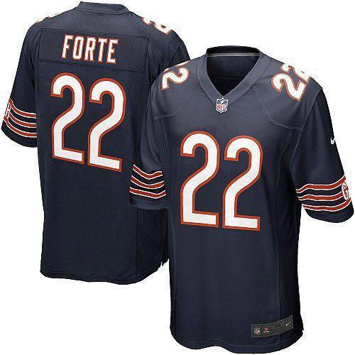 nfl youth elite nike nfl chicago bears 22 matt forte team color blue jersey 79.99