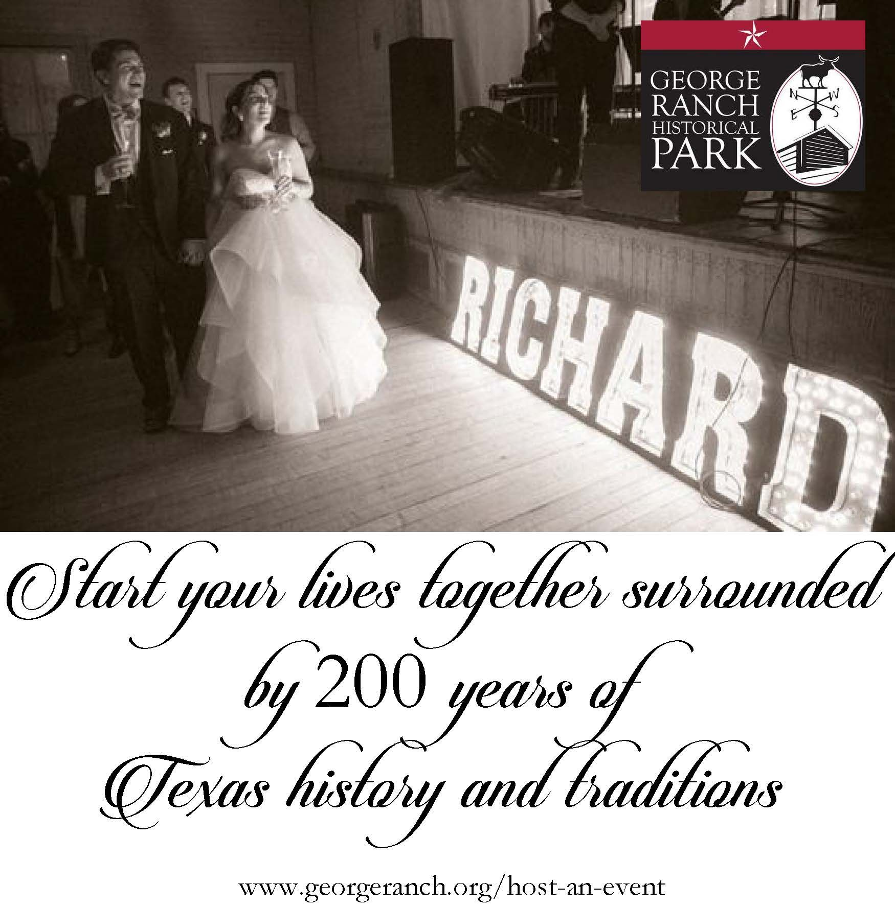 Start Your Lives Together Surrounded By 200 Years Of Texas Traditions George Ranch Historical Park