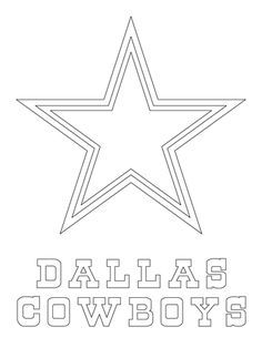 Dallas Cowboys Logo Coloring page from NFL category