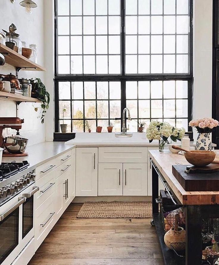 56 Incredible Rustic Kitchen Ideas Photos: Beautiful European Kitchen With Industrial Style Black