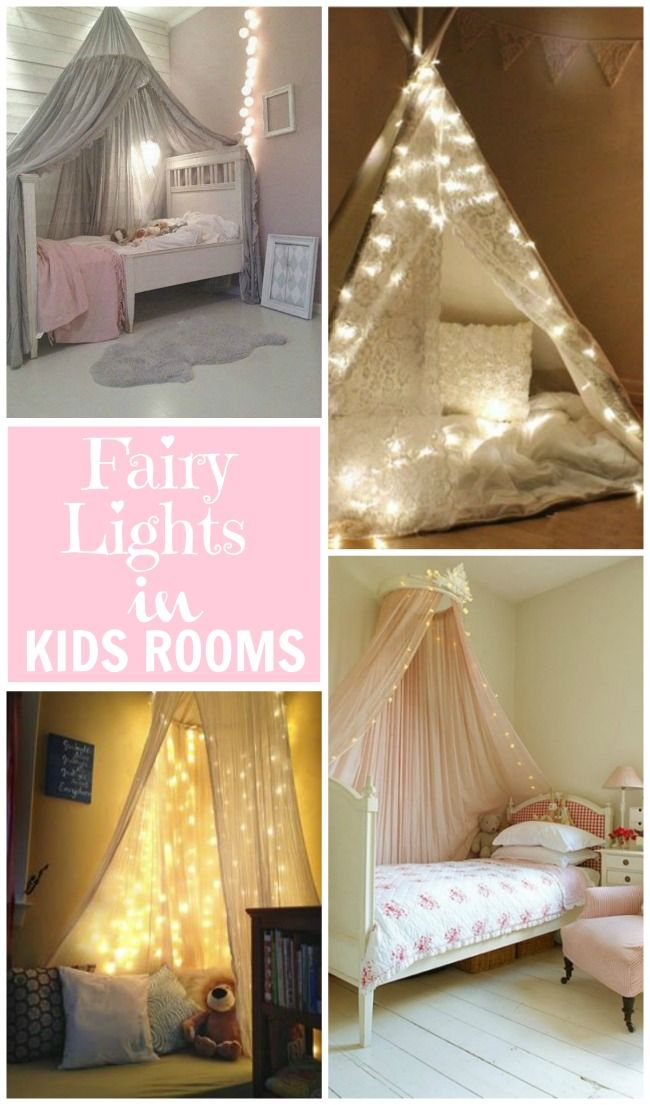 Create A Magical Scene In Kids Rooms With Fairy Lights