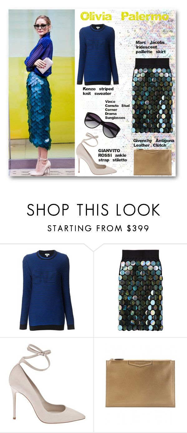 """""""Olivia Palermo"""" by selangel ❤ liked on Polyvore featuring Kenzo, Marc Jacobs, Gianvito Rossi, Givenchy and Vince Camuto"""